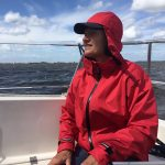 capcoat unisex rood ideaal tijdens het zeilen
