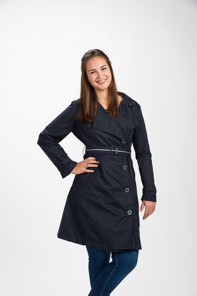 Capcoat Dames Regenjas donkerblauw