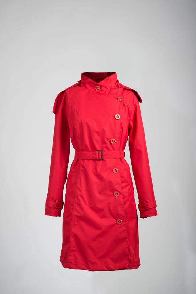 Capcoat regenjas voor dames rood